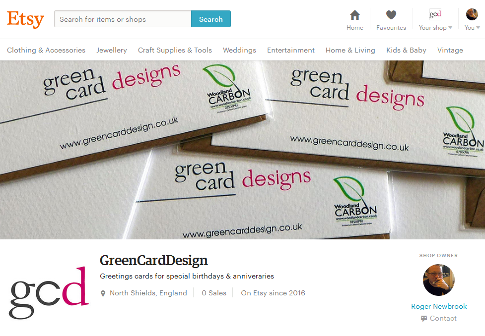 Green Card Design shop on Etsy.com